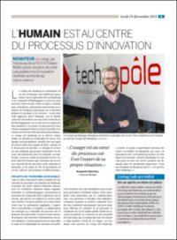 article du journal Le Nouvelliste, décembre 2019