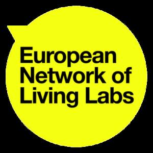 Logo en anglais du réseau européen des laboratoires vivants.