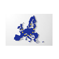 Carte bleue de l'Europe