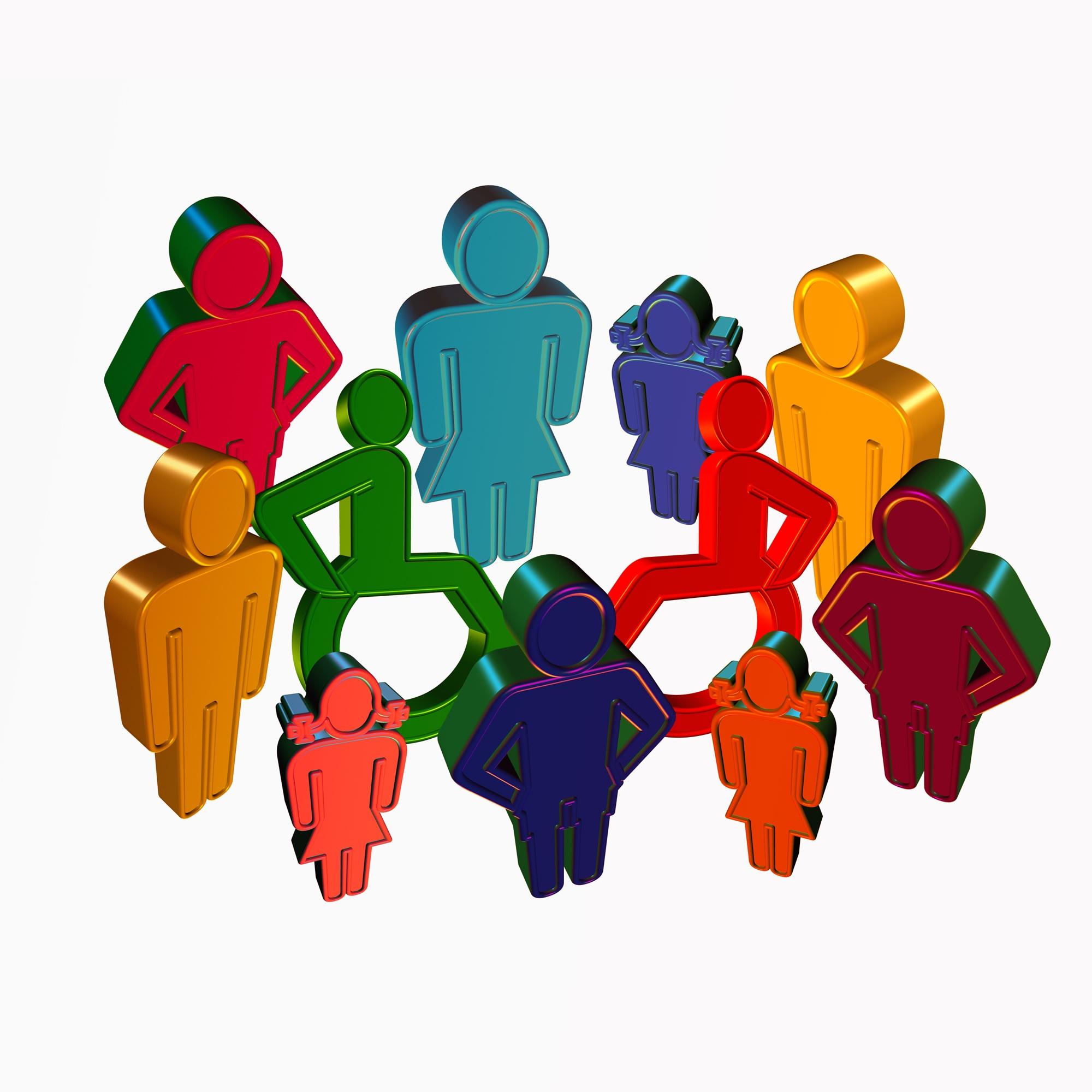 Un groupe de professionnels, de personnes en situation de handicap et de participants