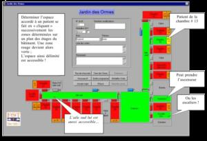 Le programme est ouvert sur un écran d'ordinateur